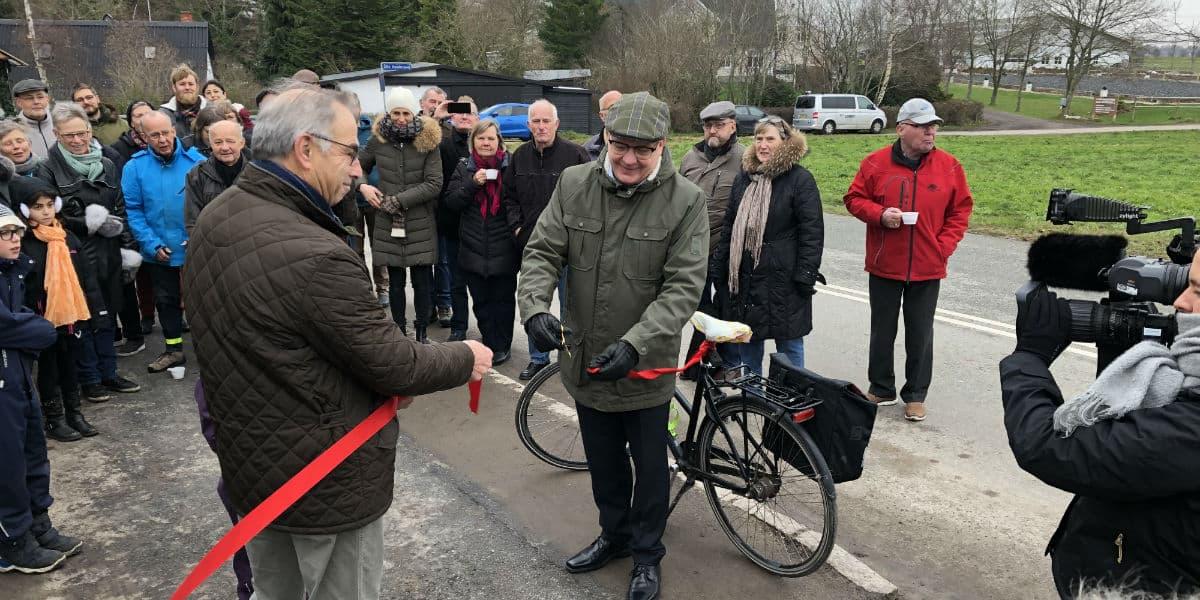 Åbningsceremoni af den nye cykelsti